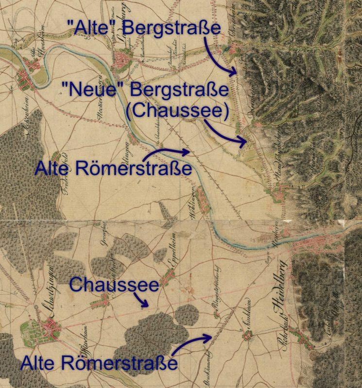 Schmitt'sche Karte mit Chausseen