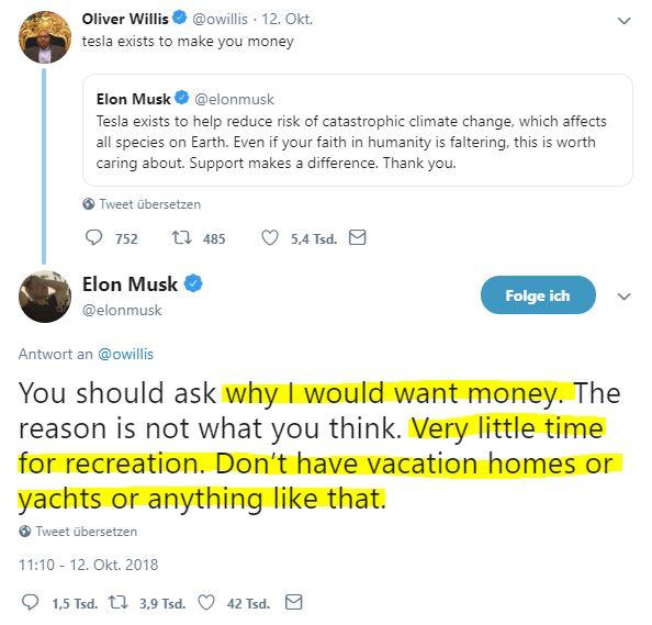 Elon Musk - Keine Yachten