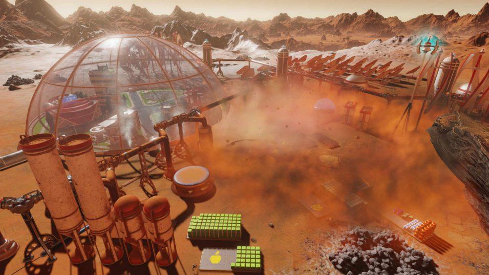 Surving Mars - Meteoriteneinschlag