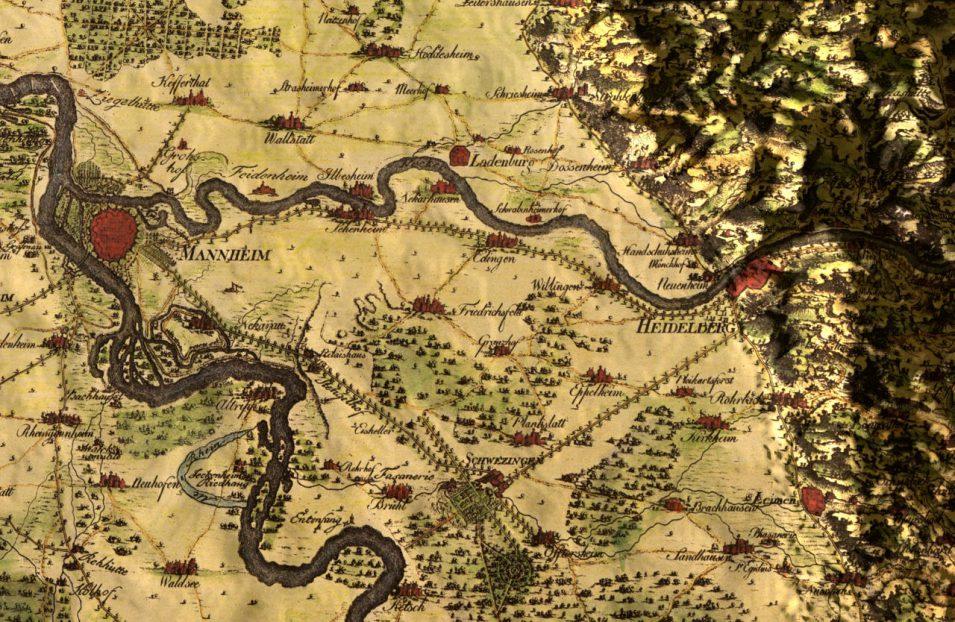 Charta Palatina von Christian Mayer, um 1775