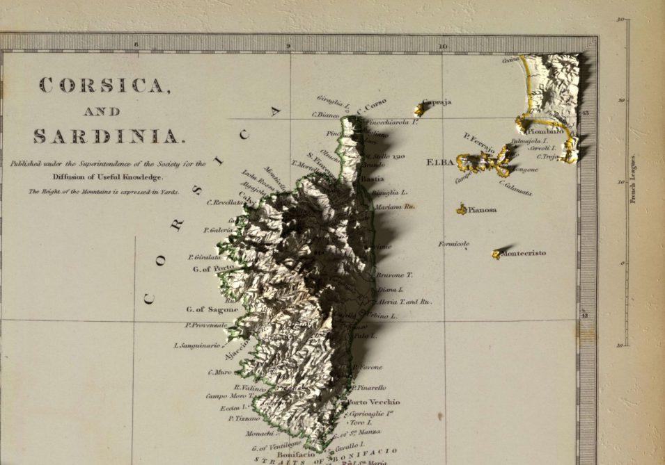 Inseln im Mittelmeer - Historische Karte aus 1831