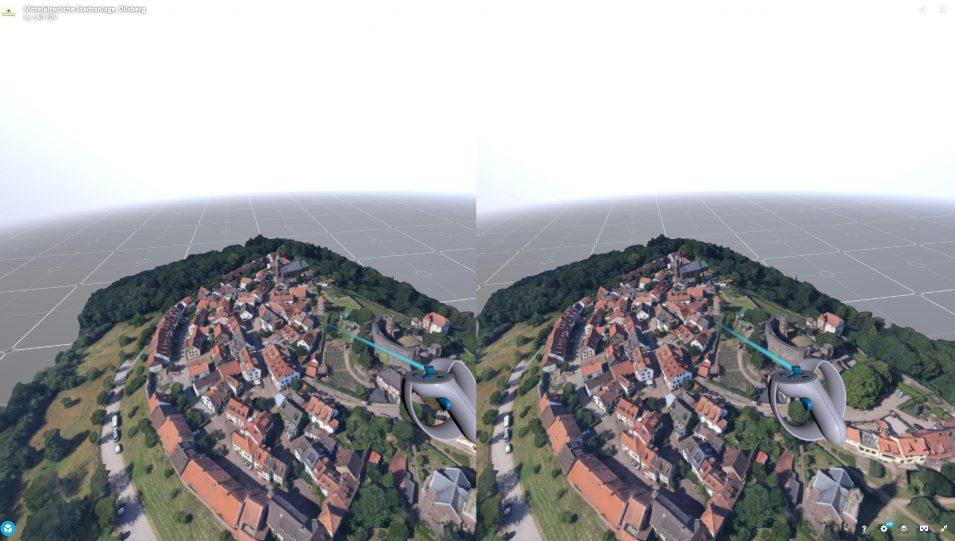 Dilsberg als 3D-Modell in VR