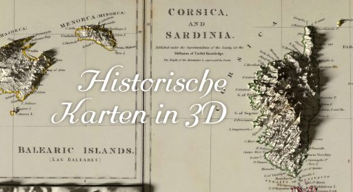 Dreidimensionale historische Karten