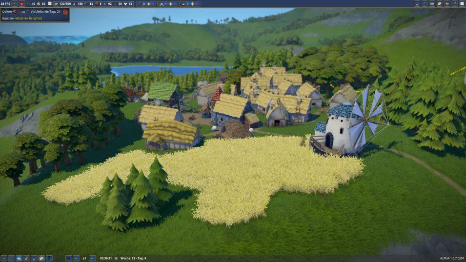 Blick Überblick über die Siedlung