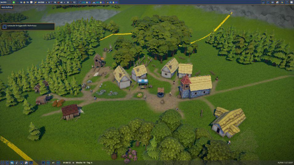 Foundation - Dorf in der Entstehung