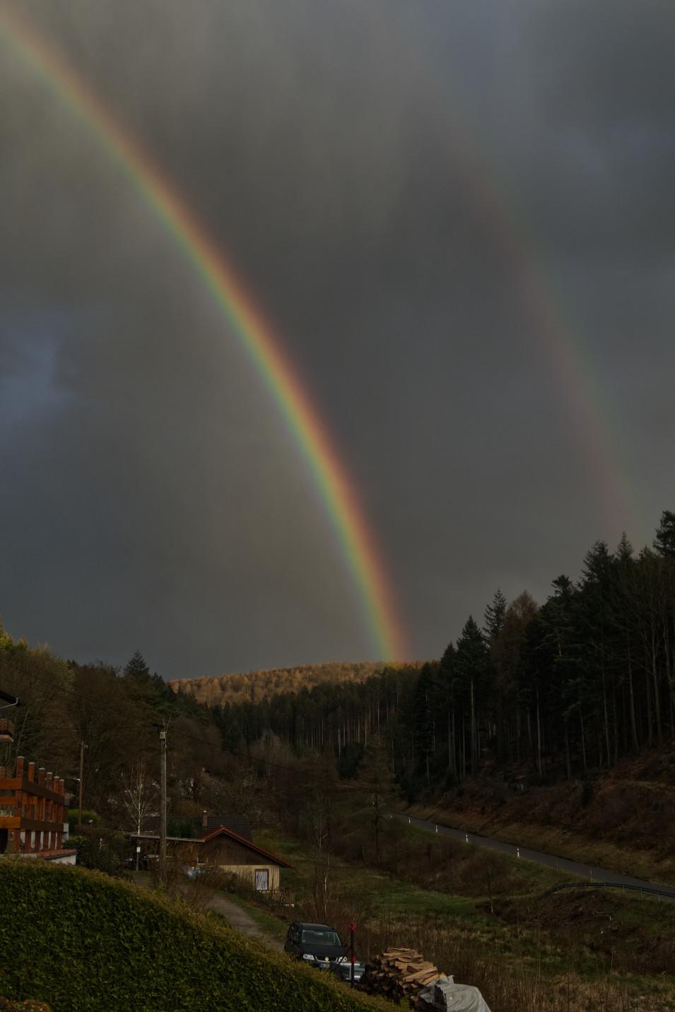 Regenbogen in Schönau