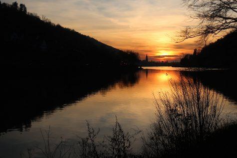 Heidelberg in der untergehenden Sonne