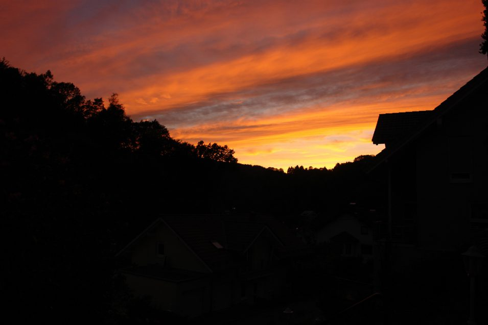 Sonnenuntergang Schönau 2015