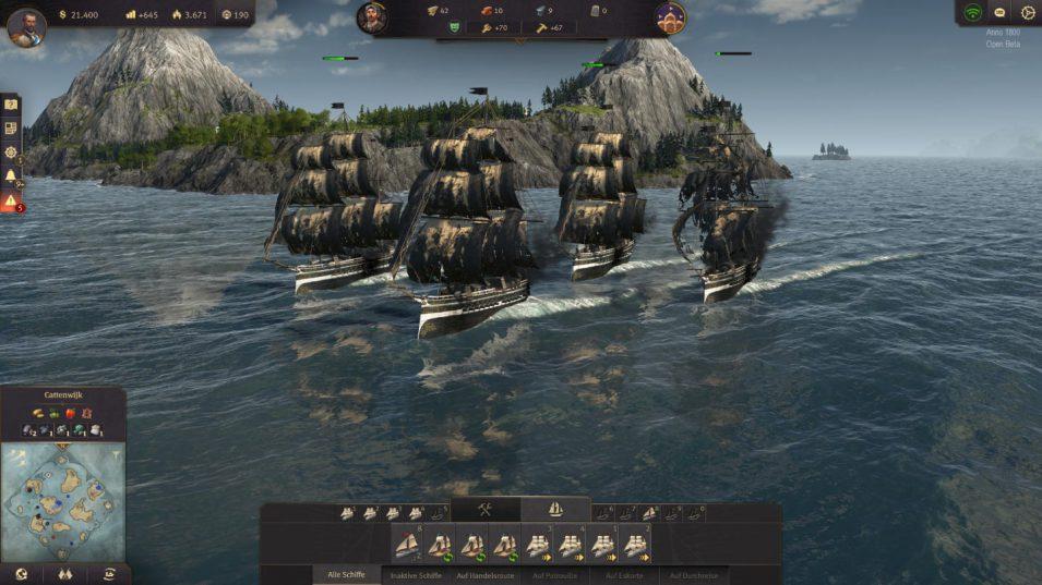 Anno 1800 - Fregatten nach einem Kampf