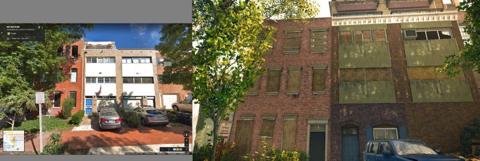 Hausfront in Washington