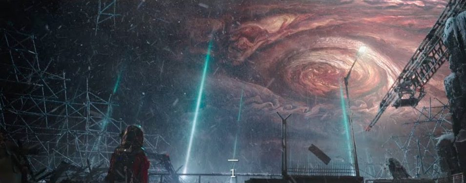 Jupiter füllt den ganzen Himmel aus