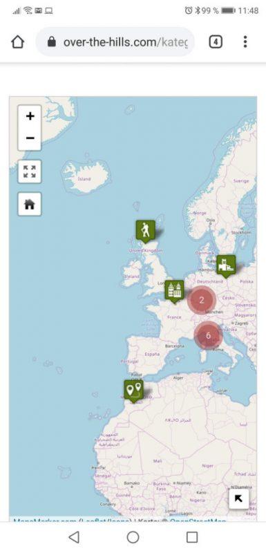 Maps Marker Pro-Karte auf dem Smartphone