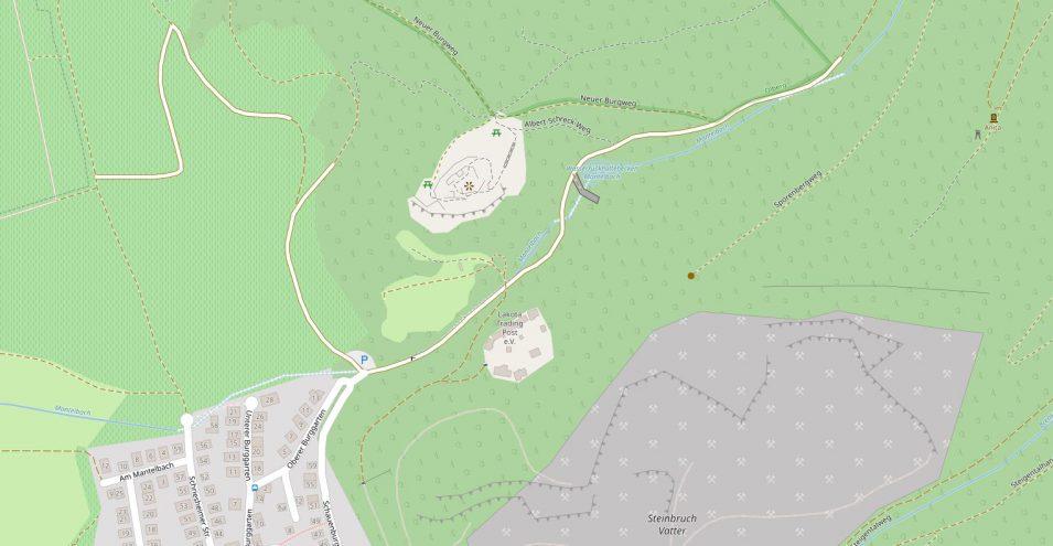 Open Street Map Detailansicht der Schauenburg