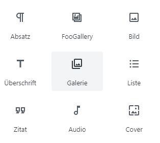 Gutenberg-Blöcke