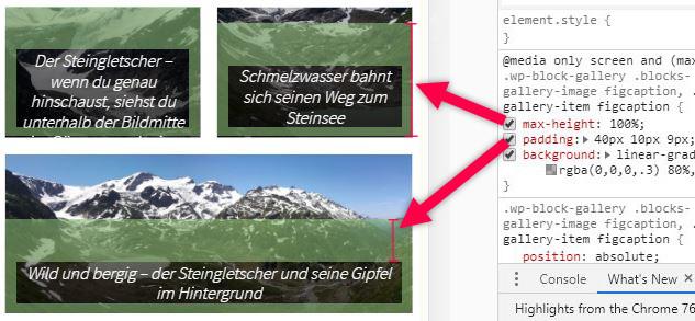 Wordpress] Fix für Galerie-Block mit Captions auf Mobilversionen