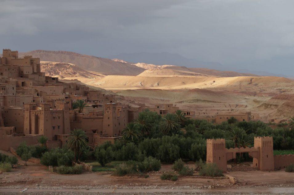 UNESCO-Weltkulturerbe Ait Ben Haddou vorher