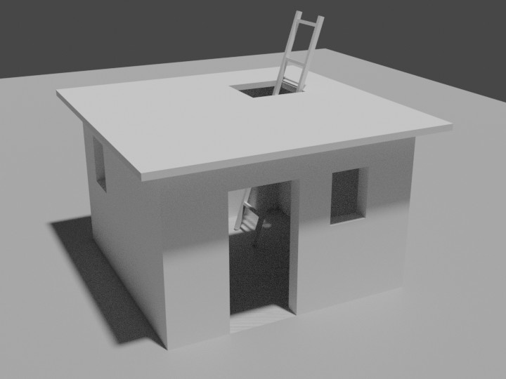 Geblenderte Hütte