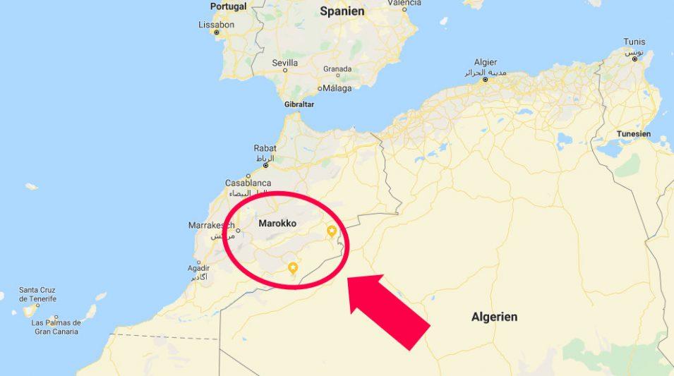 Karte Nordwestafrika