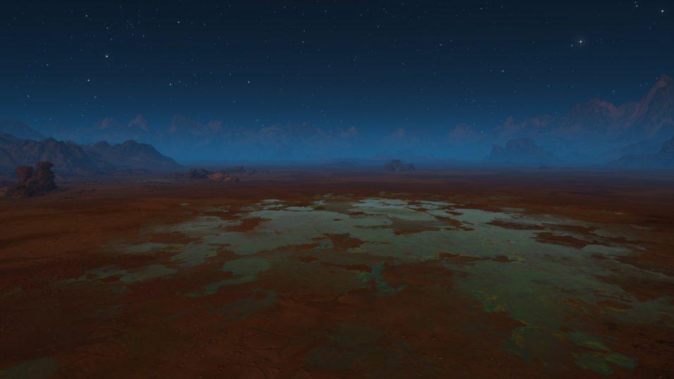 Giftiger See auf dem Mars