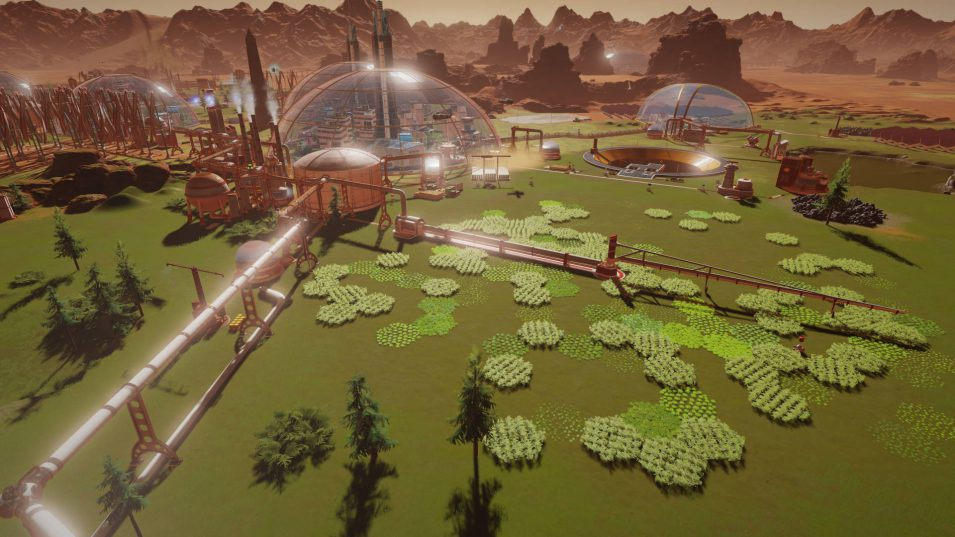 Offene Farm in Surviving Mars