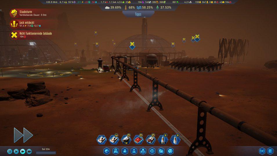 Staubsturm in Surviving Mars