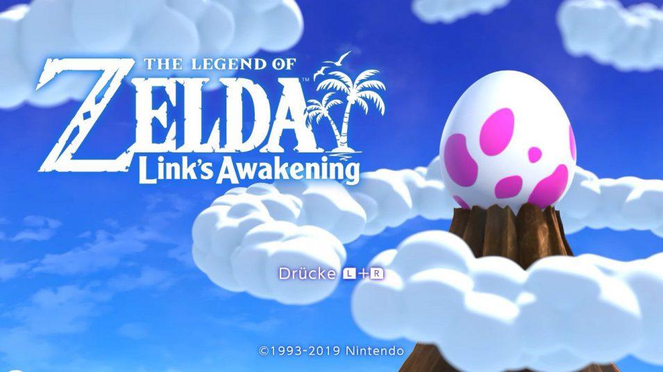 Titelscreen von Link's Awakening auf der Switch