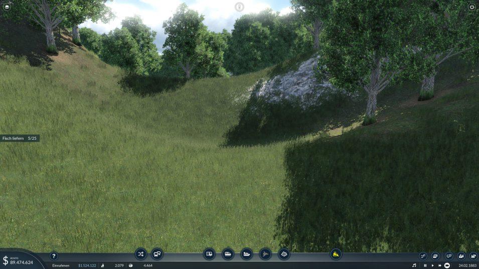 Landschaft in Transport Fever 2