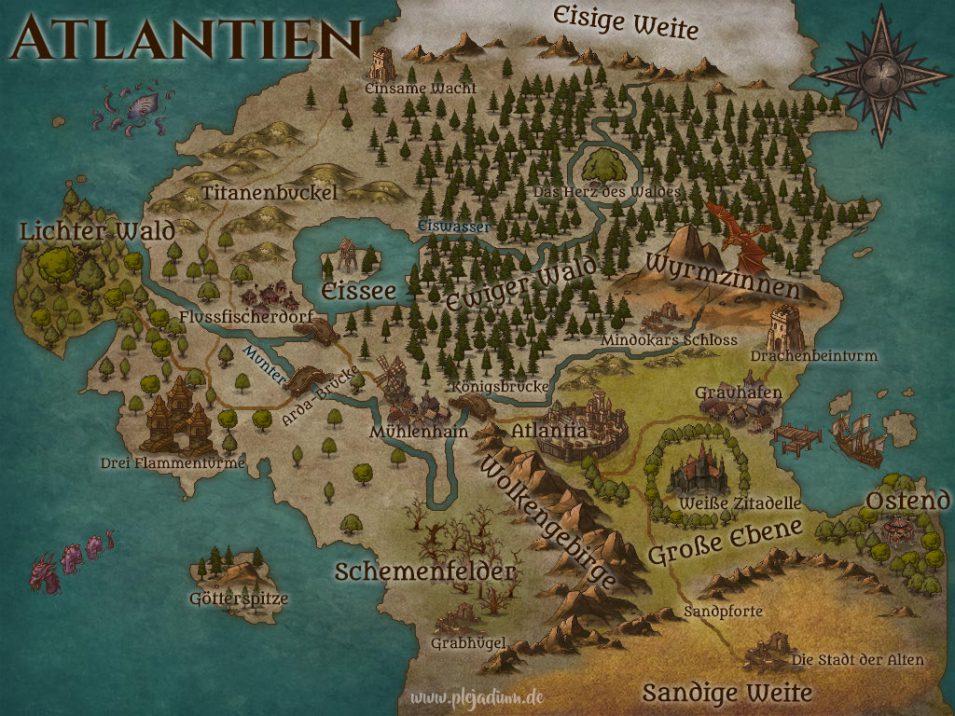 Selbst angefertigte Fantasy-Karte