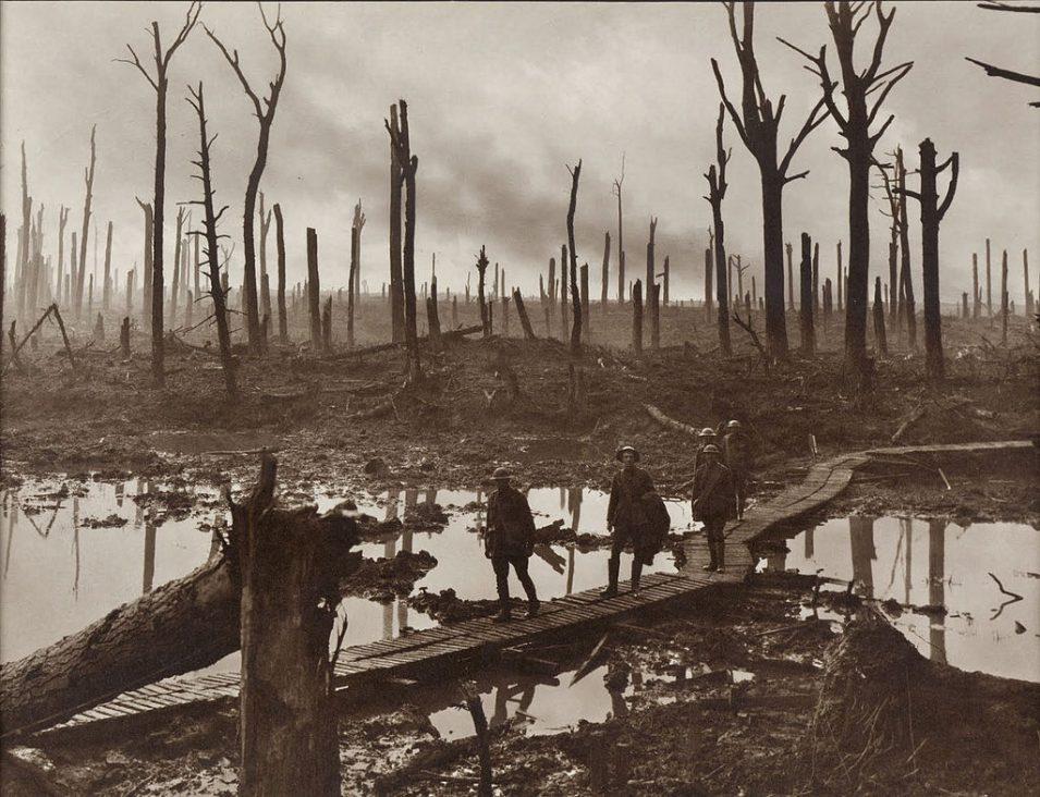 Chateau-Wald bei Ypern, 1917