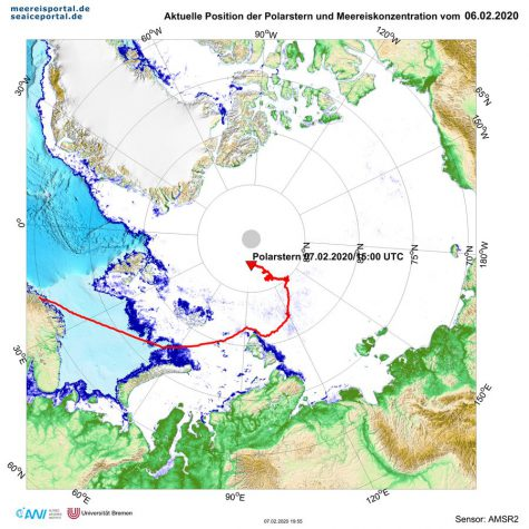 Polarstern-Position