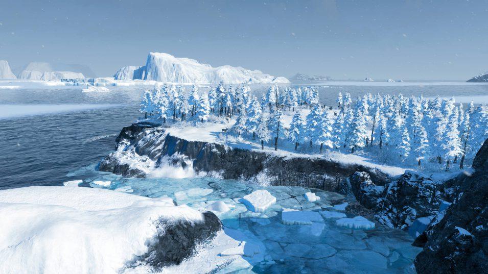 Unbesiedelte Insel in unberührter Natur