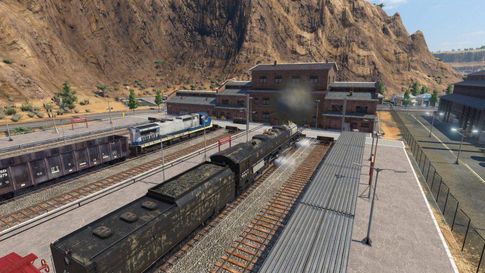 Güterbahnhofsgebäude in Transport Fever 2