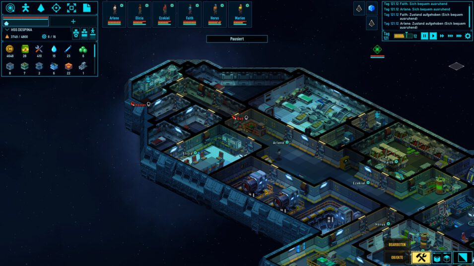Fertig gebauter Schiffsrumpf
