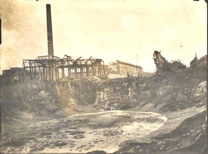 Explosionskrater von Oppau 1921