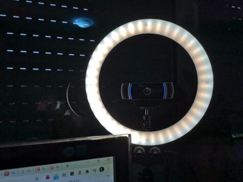 Lichtring und Webcam
