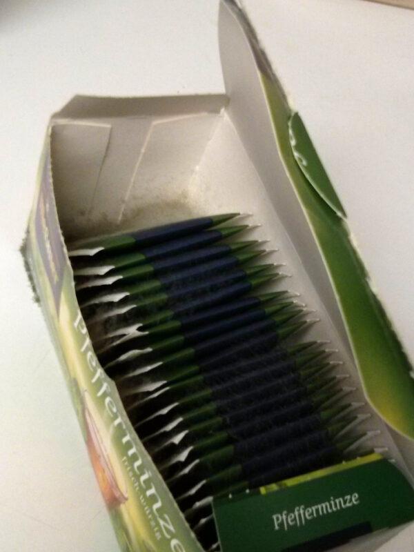 Verschimmelte Teebeutel