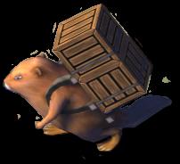 Biber mit Kiste