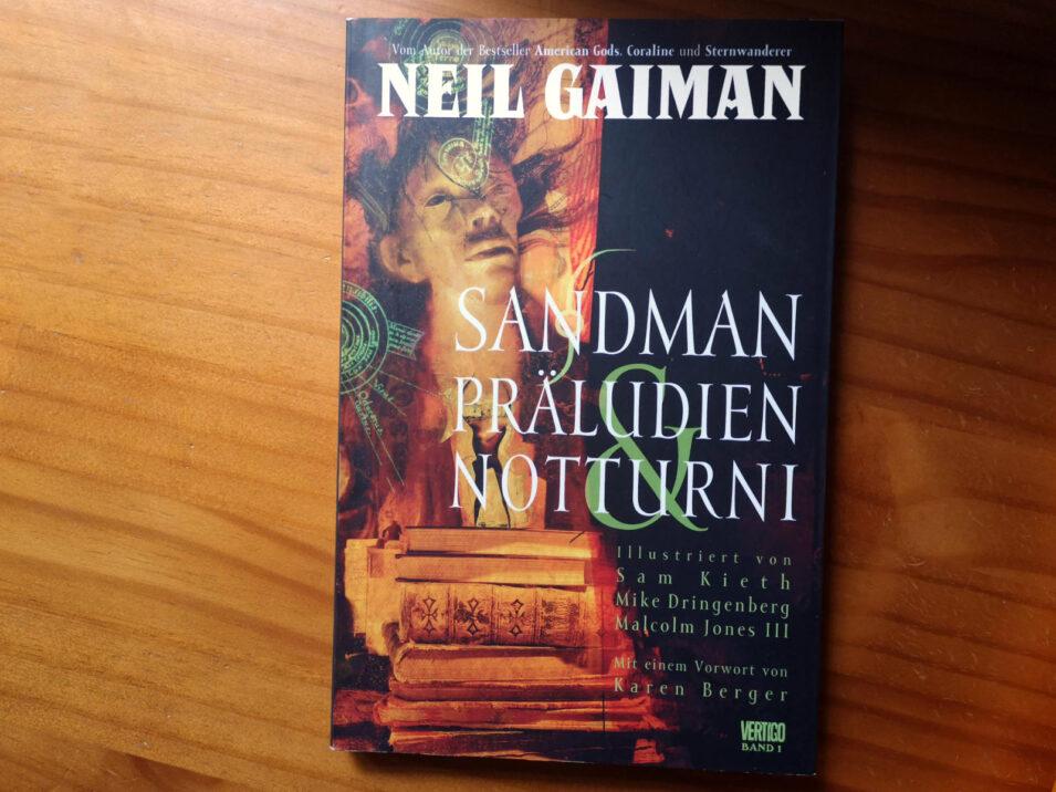 Cover des ersten Sandman-Bandes von Neil Gaiman, erschienen im Vertigo-Verlag