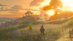 Breath of the Wild - Sonnenuntergang