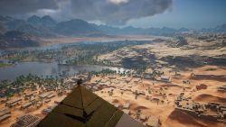 Bayek auf der Cheops-Pyramide | Assassins Creeds Origins
